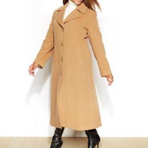 Anne Klein Wool-Cashmere-Blend Maxi Walker Coat